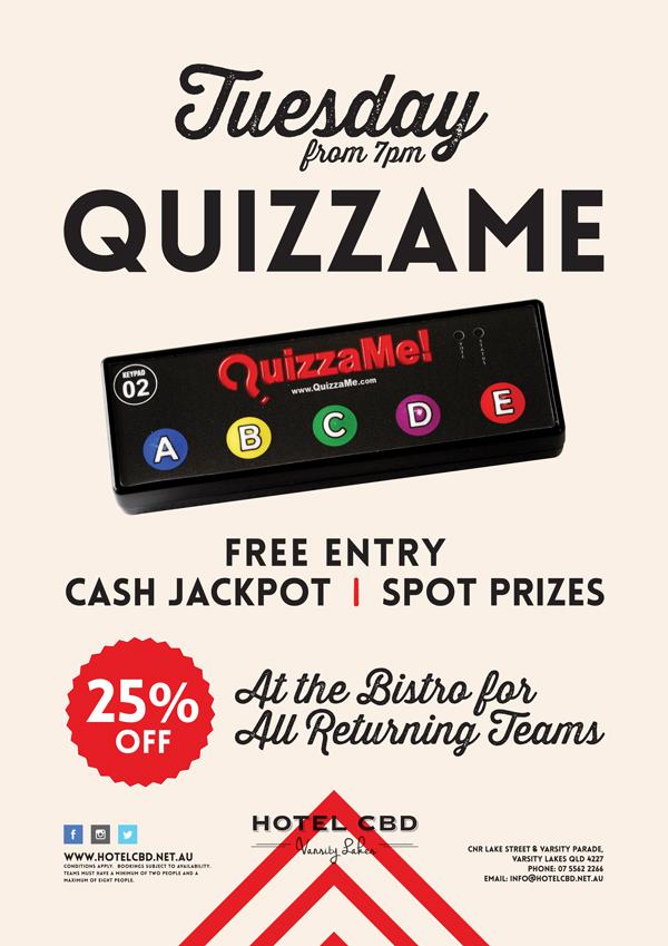Tuesday Quizzame Trivia Night - Hotel CBD