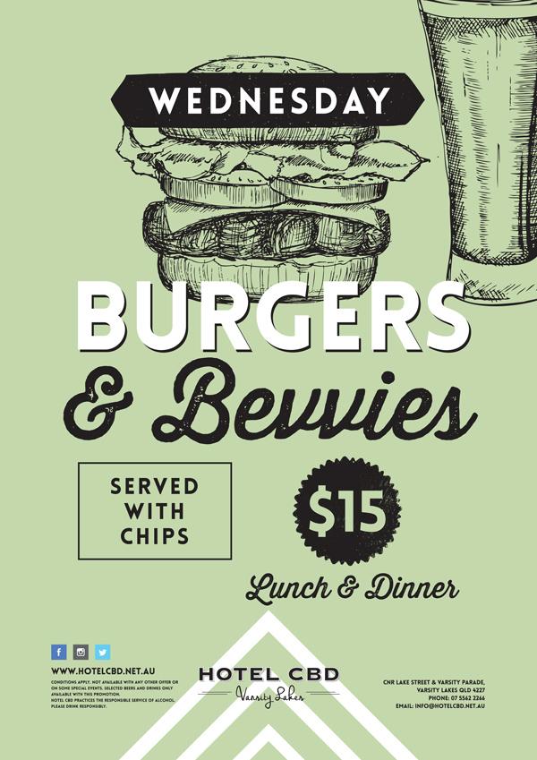 Burgers & Bevs Special - Hotel CBD