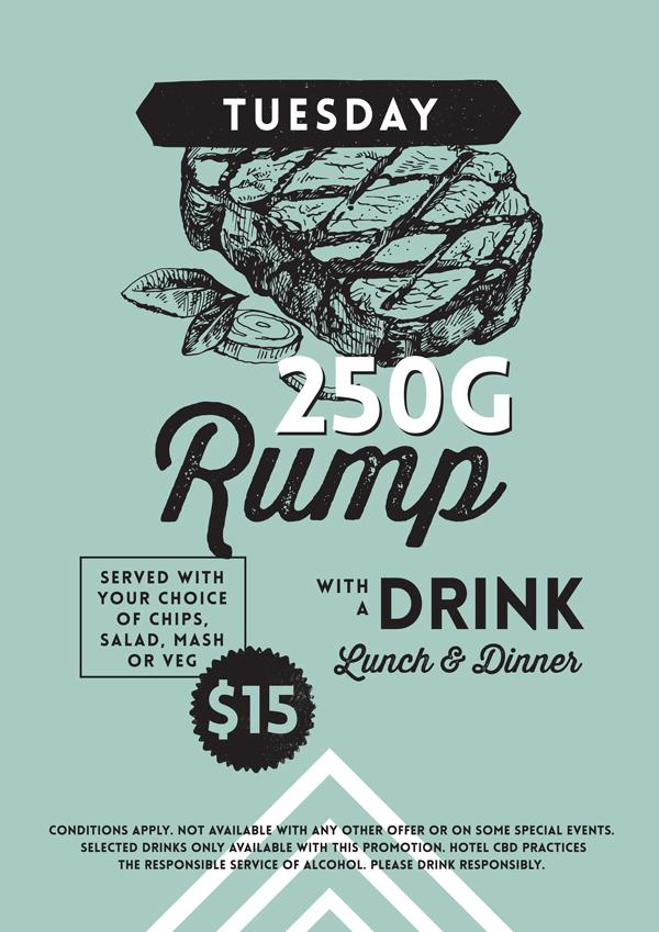 Rump & Drink Bistro Special - Hotel CBD