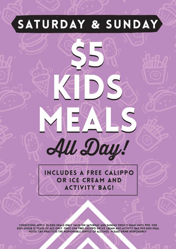Weekend $5 Kids Special - Hotel CBD